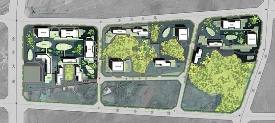 """[贵阳]""""绿谷""""体验式生态主题城市综合体建筑设计方案文本-体验式生态主题城市综合体总平面图"""