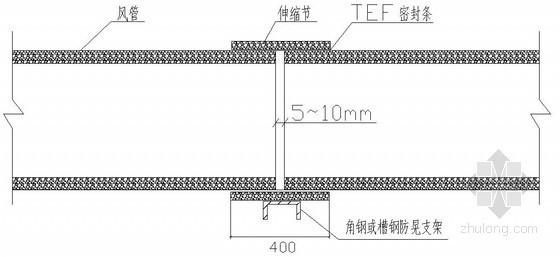 玻镁风管制作安装施工工法(组合保温型)
