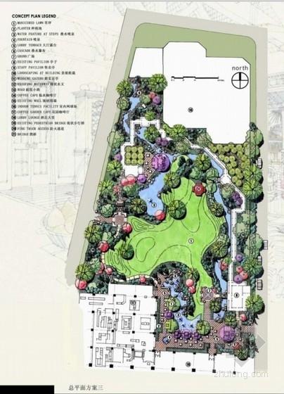 [北京]酒店庭院环境景观初步设计方案
