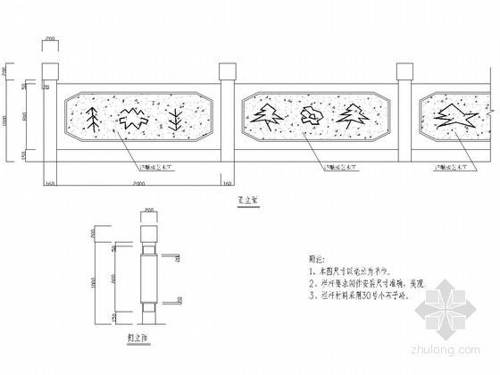 32种各种桥梁栏杆CAD图纸