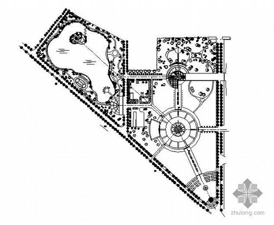 城市广场总平面设计图