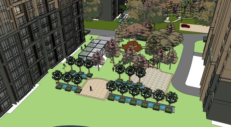 欧式小区建筑模型方案_3