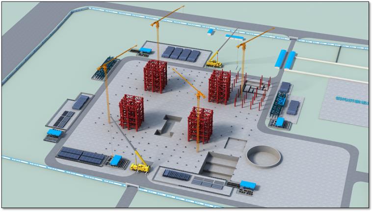 钢结构科技馆施工组织设计汇报(附图丰富,钢框架)_8