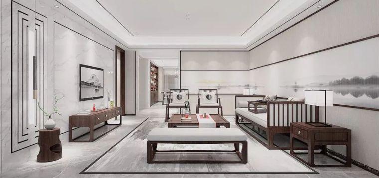 新中式徽派元素山水画为轴线的家装设计