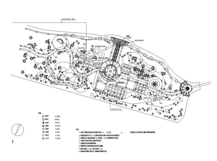 [北京]翠海明珠居住区全套景观施工图设计(电气CAD)