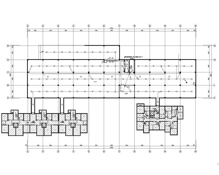 中铁高层住宅及地下车库电气改造施工图(甲级设计研究院)