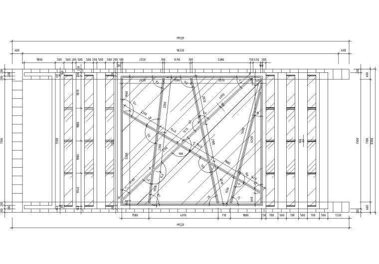 车库出入口钢结构廊架设计图(含结构详图)