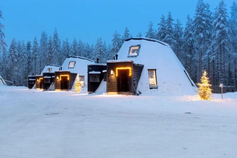 纵享皑皑白雪与极光星空:芬兰度假木屋酒店