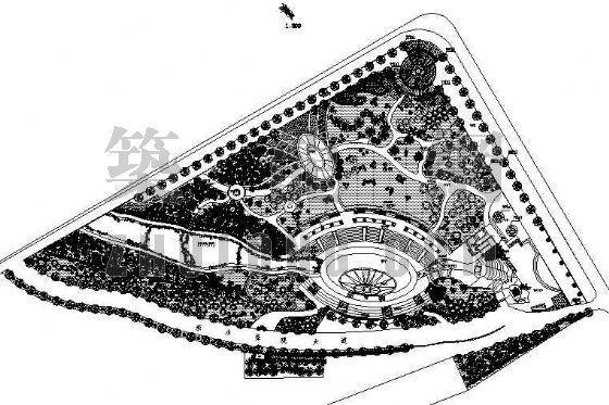 某游园景观设计图