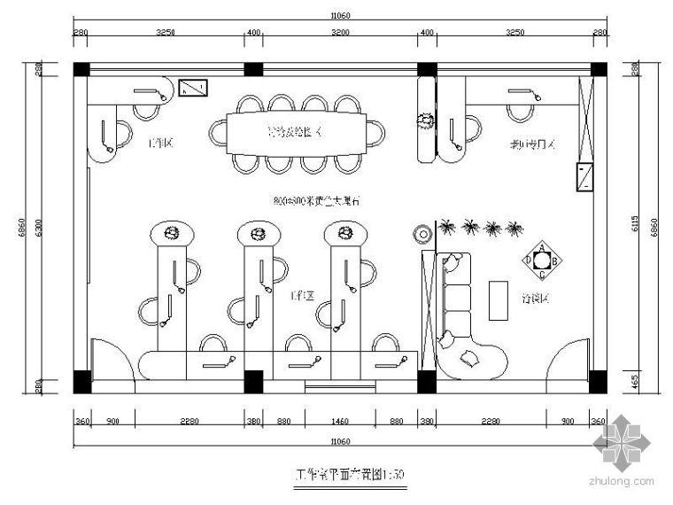 [湖南]某设计工作室装修图