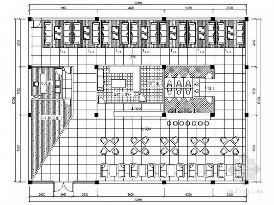 某蝴蝶主题咖啡屋室内设计CAD装饰图(含效果)