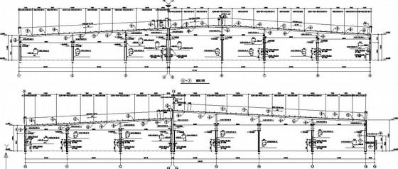 197米跨门式刚架带牛腿厂房刚架结构施工图