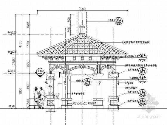 [东莞]居住区主入口水景设计施工图-