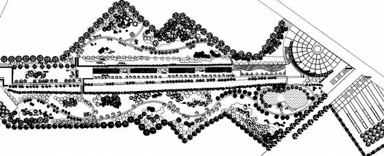 [山东菏泽]生态休闲绿地园林景观工程施工图
