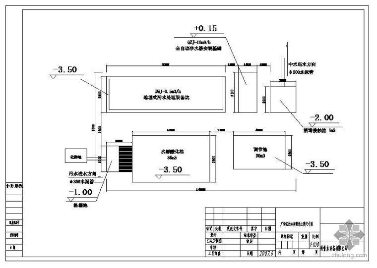 某污水处理厂中水回用布置图