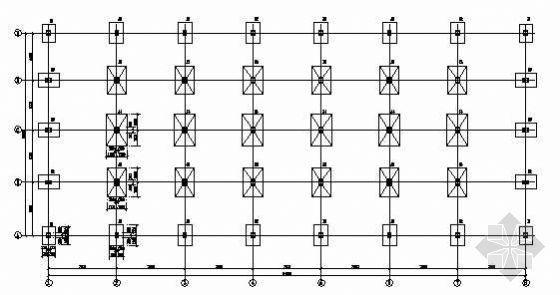 某三层商业楼钢框架结构施工图纸