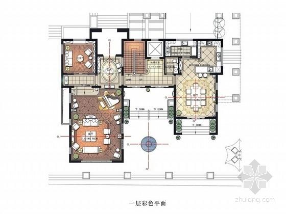 [广东]尊贵法式风情独栋三层别墅样板间设计方案