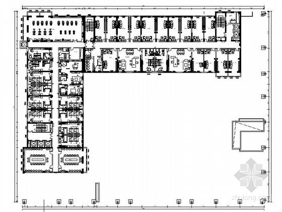 [武汉]现代风格商务酒店装修CAD施工图(含效果图)