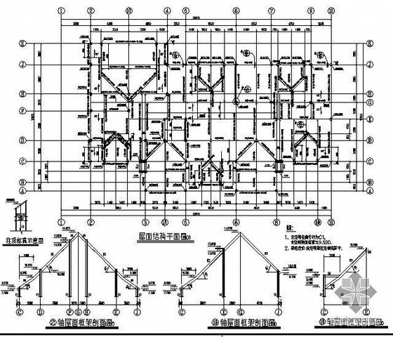 某钢框架结构住宅楼全套施工图