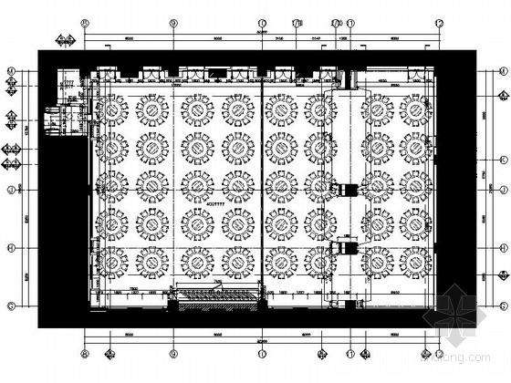 [西安]奢华高档四星级酒店宴会厅及宴会包间装修施工图(含效果)
