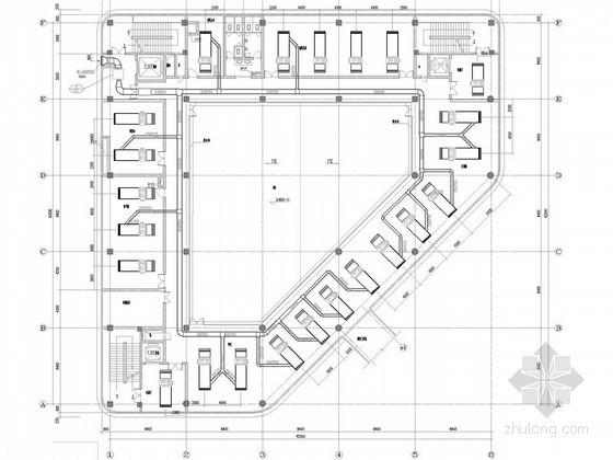 [浙江]行政后勤办公楼空调及通风排烟系统设计施工图(含空调机房)