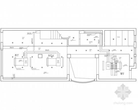 [云南]三层别墅中央空调系统设计施工图