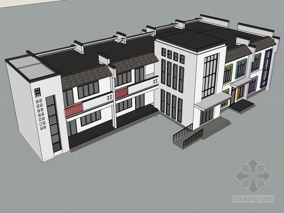 中式幼儿园SketchUp模型下载