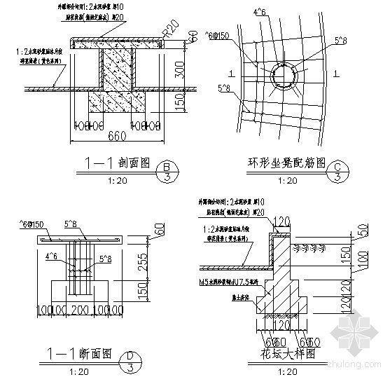 环形坐凳配筋详图-4