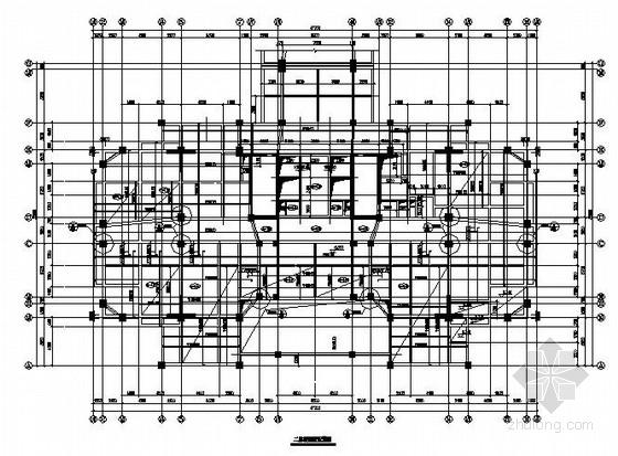 20层框剪办公楼部分框架裙房结构施工图(评审版)
