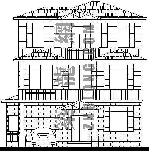某别墅建筑设计方案(I型)