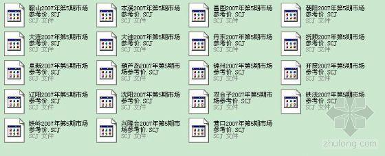 辽宁省2007年第5期各个地区装饰参考价