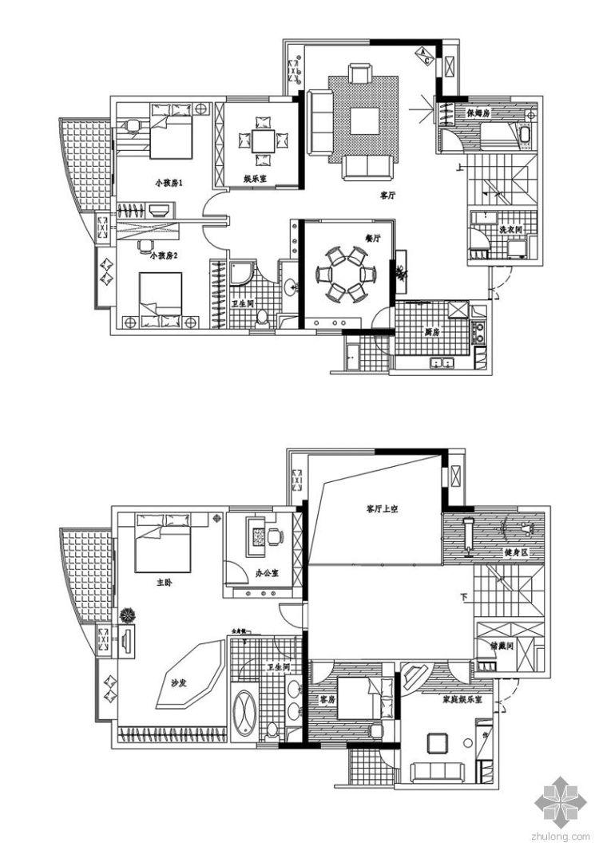 福州某复式住宅设计图