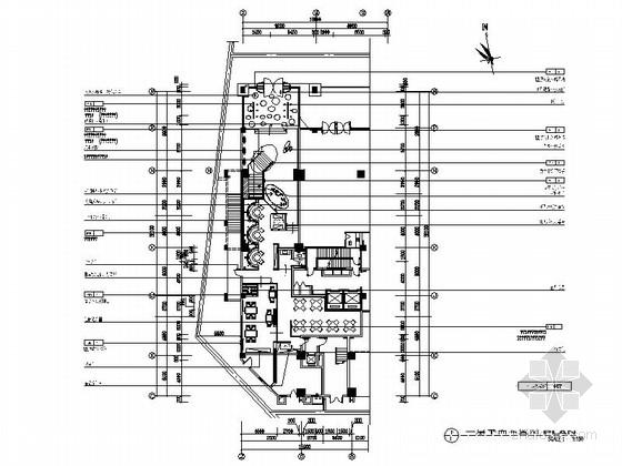 [湖南]某现代时尚餐厅室内装修施工图(含实景)