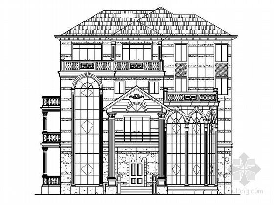 某四层欧式独栋别墅建筑施工图(945平方米)