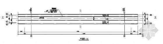48米跨焊接球钢管桁架输煤栈桥结构图纸
