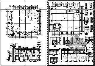 欧式商业步行街建筑施工图
