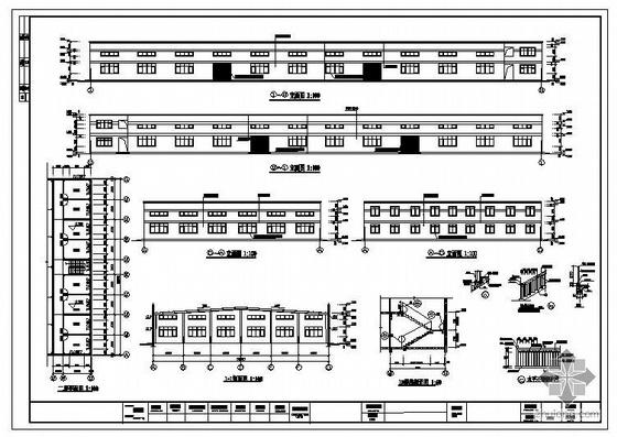 浙江某35米跨厂房建筑结构图