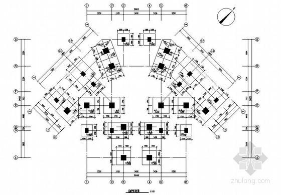 四层钢结构会所结构施工图