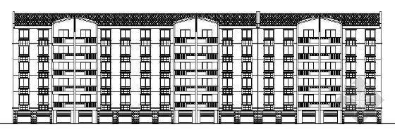某服装厂四层商业用房建筑方案图