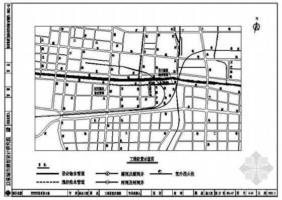 某市道路给水管道施工图