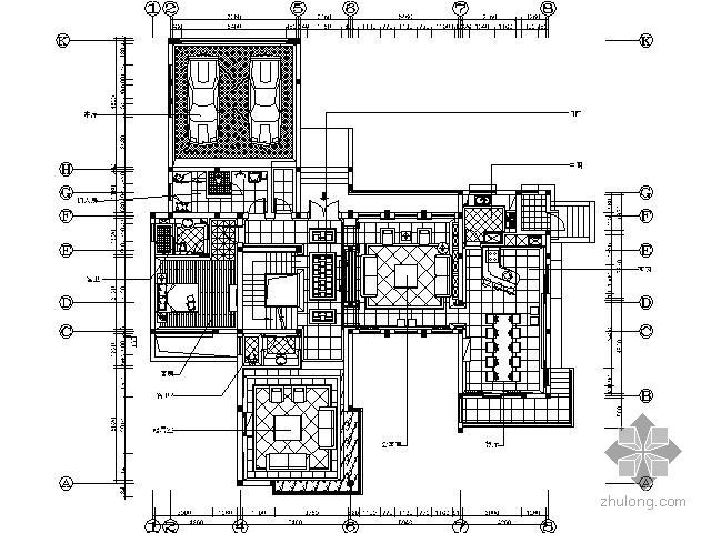 [上海]新中式风格独栋别墅施工图(含实景)