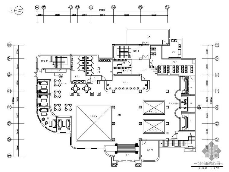 [江苏]售楼中心装饰工程竣工图