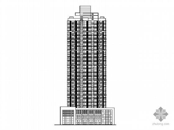 某二十七层一梯六塔式顶层复式商住楼建筑初步设计图