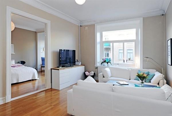 宜家风优雅家居,小户型装修温馨客厅案例设计