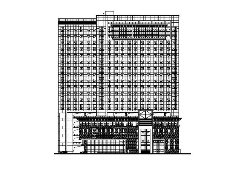 [四川]高层框剪结构省级中医院建筑施工图