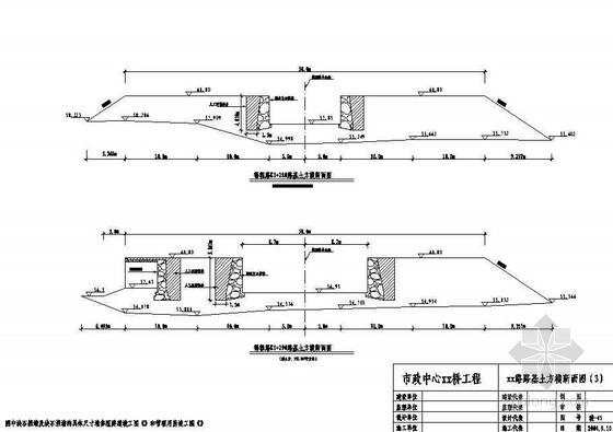 市政拱桥路基土方横断面结点详图设计