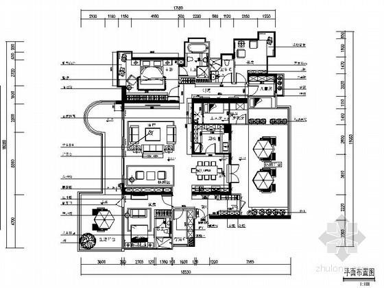 [福州]某小镇样板楼五居室装修图