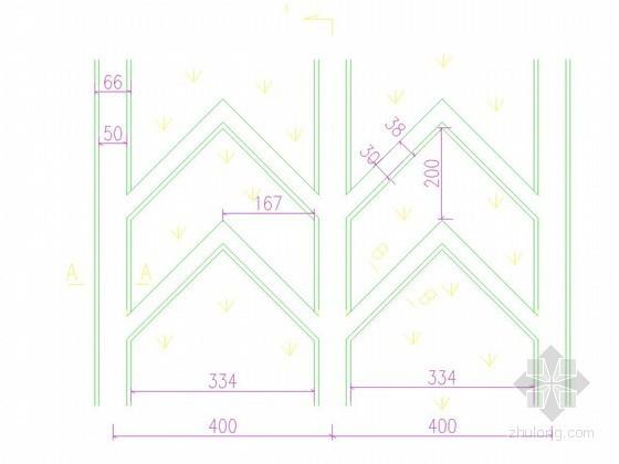 人字骨架梁护坡结构图