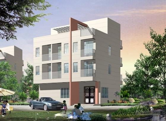 450平四层框架结构独栋别墅结构施工图(含建筑图)
