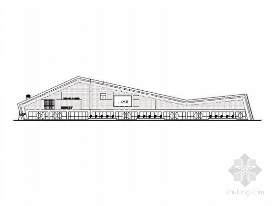 [四川]现代风格县城汽车站建筑施工图(含配套建筑)